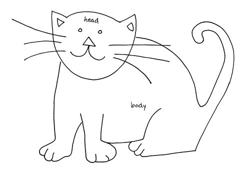 cat easy simple line drawings of cats www imgkid the image