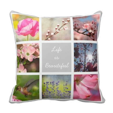 Collage Photo Pillow by Create Your Own Photo Collage Pillows Zazzle