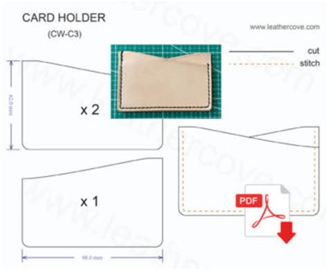 leather card holder template free leather craft patterns and tutorials free pdf