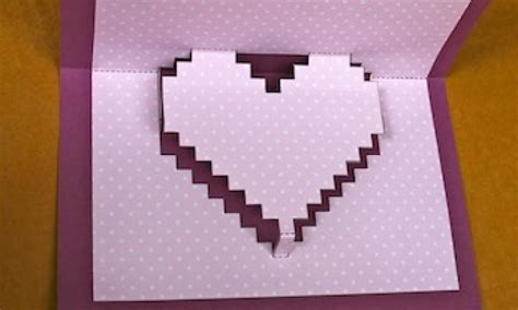 How To Make Things Pop Out On Paper - make a pixelated pop up card kidspot