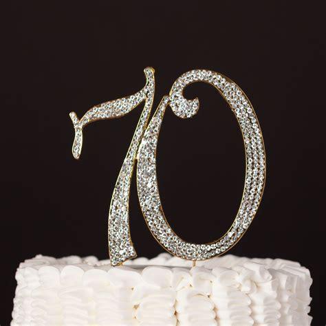 70 Cake Topper   Gold   70th Wedding Anniversary