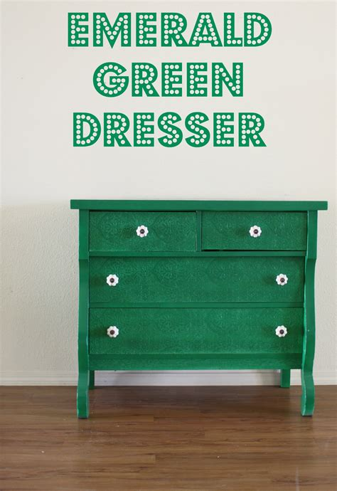 Green Dressers by Emerald Green Dresser Makeover