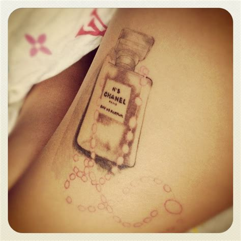 chanel tattoo designs my chanel no 5 pink rosary for my beautiful