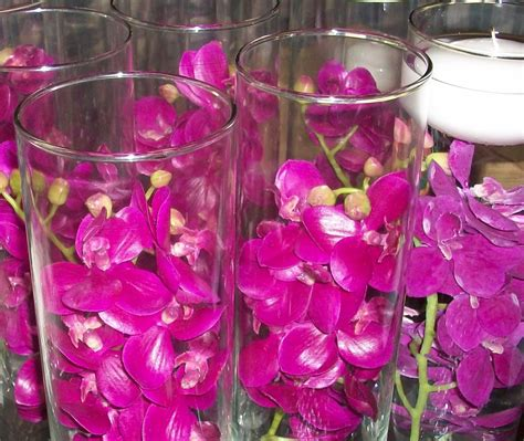 12 piece set orchids wedding reception table centerpiece