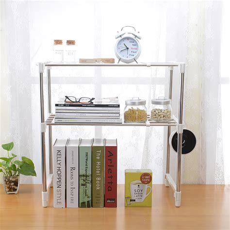 layer microwave oven shelf storage shelf stainless