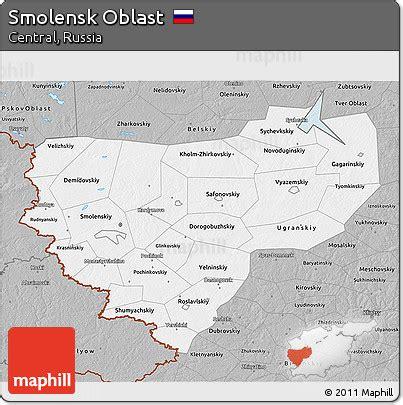 russia map smolensk free gray 3d map of smolensk oblast