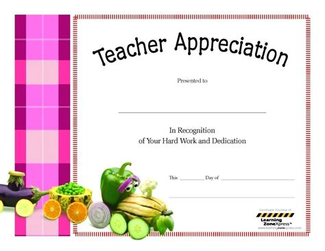 certificate of appreciation for teachers template template appreciation certificate template