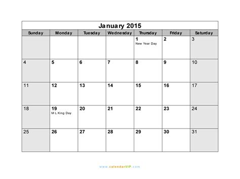 January 2015 Calendar Calendar 2015 January New Calendar Template Site