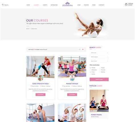 themes wordpress yoga hermosa health beauty yoga wordpress theme nootheme