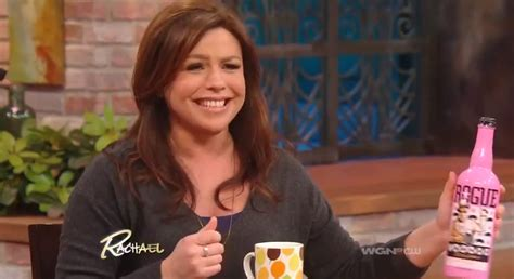 picture of rachael ray with major highlights in her hair watch rachael ray get really excited about rogue s voodoo