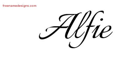alfie tattoo designs alfie free name designs