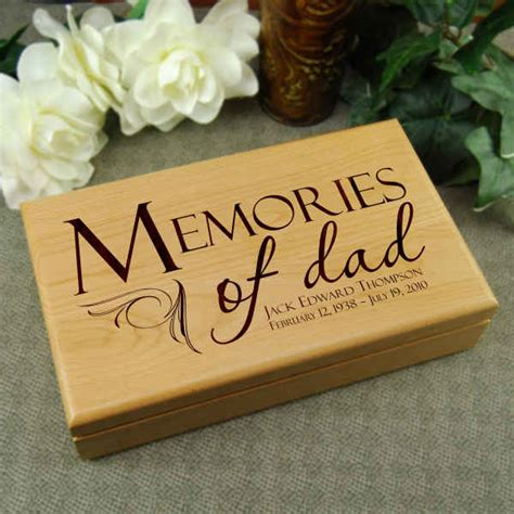 memories of dad memory box memorial gift for loss of father