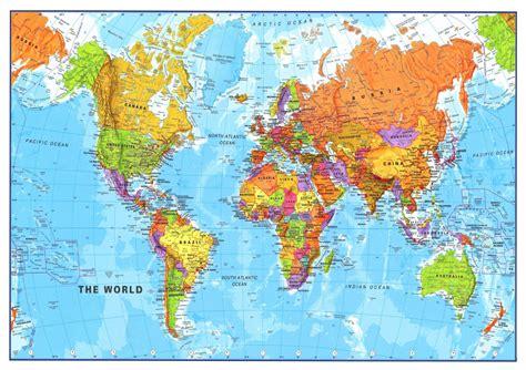 world map a4 sheet edible cake topper