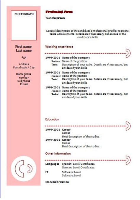Modelo De Curriculum Vitae Para Completar Y Imprimir Fotocopias Baratas Imprimir Curriculum Vitae Baratos