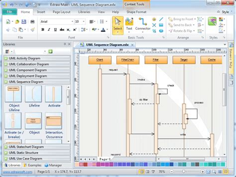 sequence diagram tool free edraw max united addins