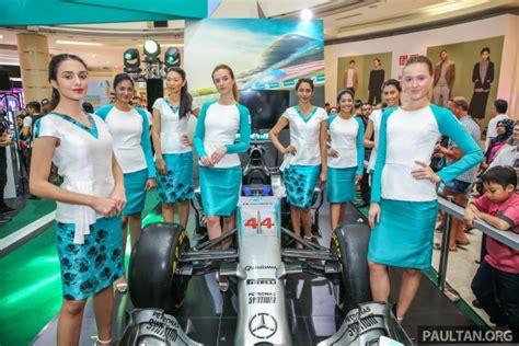 Baju F1 Petronas nurita harith reka pakaian gadis litar petronas f1 2016