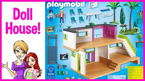 playmobil dolls house playmobil city life modern doll house review youtube