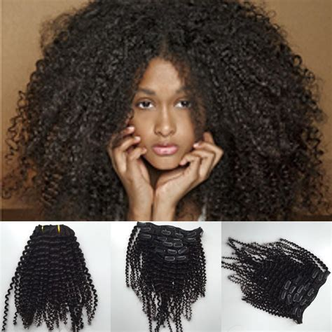 25 pieces natural hair kinky curly clip in hair extensions natural hair 4b 4c