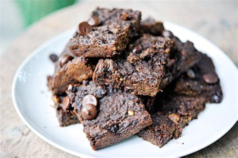 Flourless Brownies Almond And Oat Brownies flourless chocolate chip zucchini oat brownies tasty kitchen