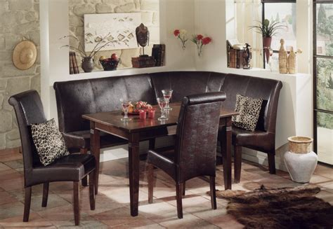 Dining Room Nook Sets Homesfeed Corner Dining Set With Chairs