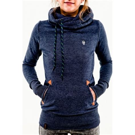 Pocket Hoodie Greenlight stylish hooded sleeve pocket design embroidered
