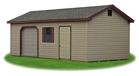 Small Overhead Doors Peak A Frame Style Sheds Pine Creek Structures