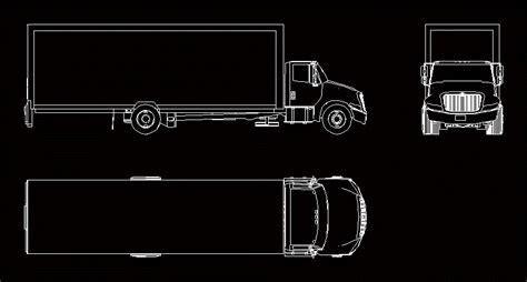 camion internacional en autocad descargar cad gratis  kb bibliocad