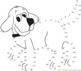 Dot To Clifford Colouring Pages sketch template