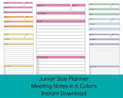 printable arc planner pages planners printable planner and discbound planner on pinterest