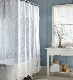 Simple Shower Curtains Shower Curtains Easy Care Polyester Somerset Lace Shower Curtain Plow Hearth Bathroom