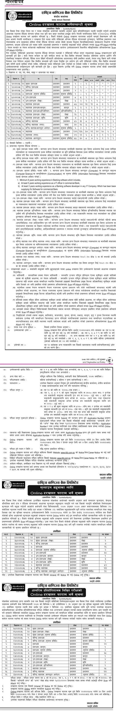 nepal banijya bank vacancy in rastriya banijya bank limited