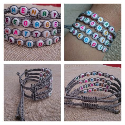 Handmade Macrame Bracelets - macrame market handmade macrame alphabet bracelets