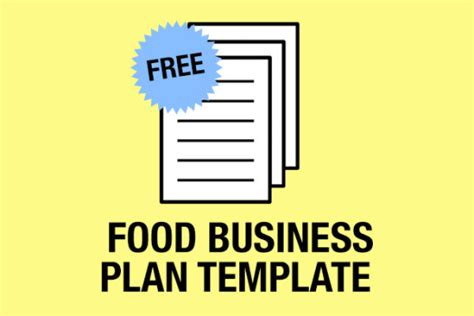 quick easy food business plan template free download