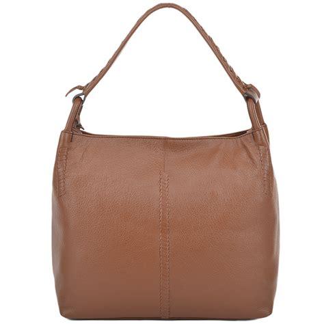womens shoulder bags c womens leather hobo shoulder bag tan 61634