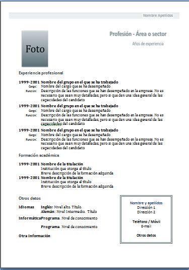 Modelo De Curriculum Para Trabajo Peru Curr 237 Culum Mixtocurr 237 Culum Funcional Mamaquieroserbecario