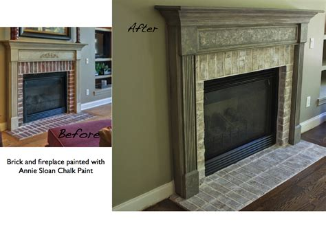 chalk paint brick fireplace painting kitchen cabinets and brick lighten up a kitchen