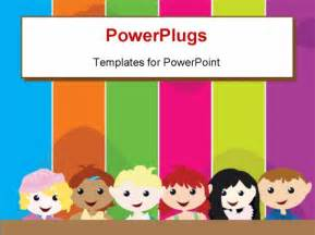 free children powerpoint templates powerpoint template a theme of six standing