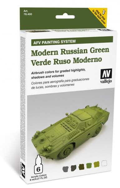 Vallejo 71247 Light Olive Model Kit Paint vallejo afv modern russian green armour painting system snm stuff