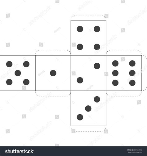 How To Make A Paper Dice - paper dice template vector stock vector 237223576