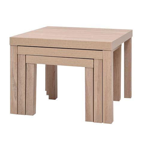 Attrayant Table Bar De Cuisine Conforama #9: table-gigogne-trio-panneaux-alveolaires-decor-papier-chene-clair-1739698.jpg