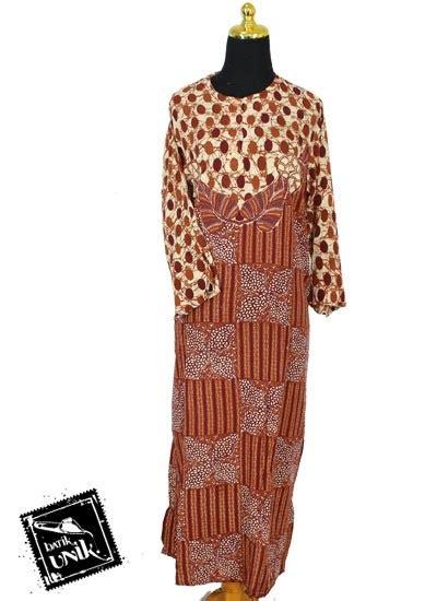 Daster Gamis Muslim Longdress M 01 baju batik longdress santhung motif gringsing godhong waru