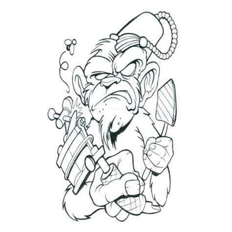 monkey tattoo designs monkey art tattoo lawas
