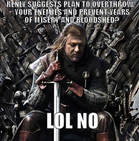 Ned Stark Meme - game of thrones fans unamused by meme
