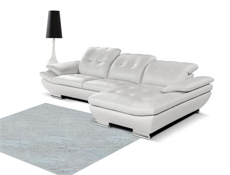 white italian leather sectional sofa 858 modern white italian leather sectional sofa
