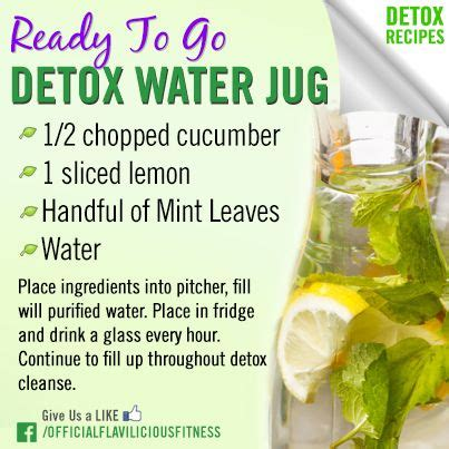 Detox To Get Out Of System by Ready To Go Detox Water Jug This Is A Great Idea We Need