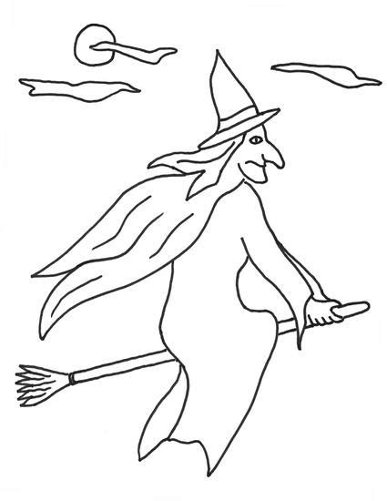 witch broomstick coloring page witch coloring pages