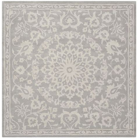6 foot square rug safavieh silver ivory 6 ft x 6 ft square area rug bel445a 6sq the home depot