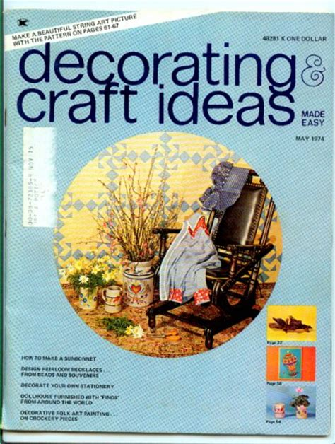 Create And Decorate Magazine Back Issues by Decorating Craft Ideas Made Easy May 1974 Magazine Back Issue Decorative Folk Painting