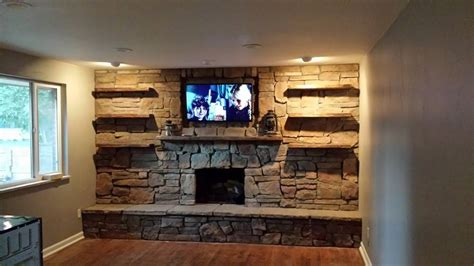 custom stone fireplace tv wall s d m custom finish 1000 images about custom entertainment centers on