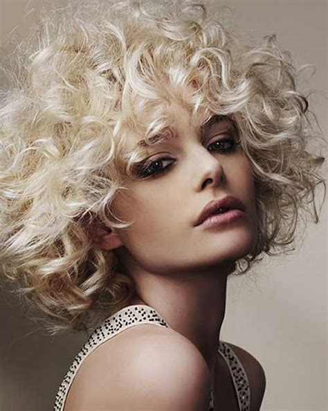 short blonde hairstyles curly 15 curly perms for short hair short hairstyles 2017